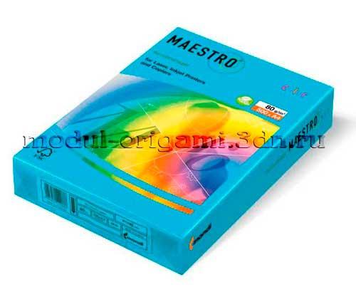 Бумага для модулей оригами Maestro интенсивная голубой