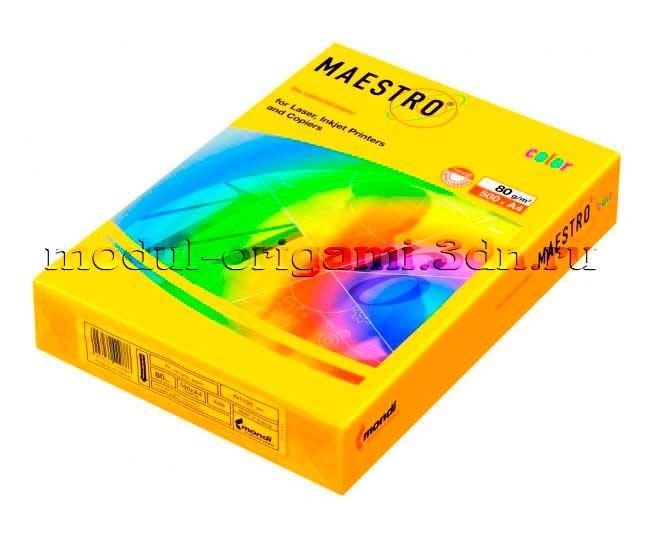 Бумага для модулей оригами Maestro интенсивная солнечно-желтый