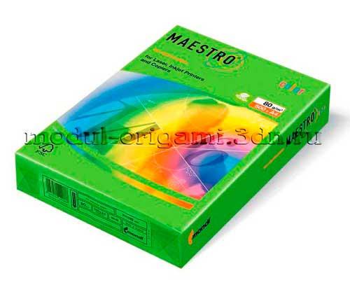 Бумага для модулей оригами Maestro интенсивная зеленый