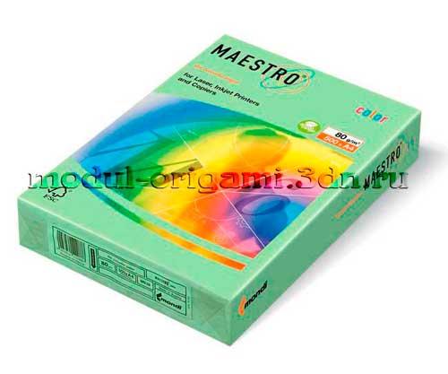 Бумага для модулей оригами Maestro пастель зеленый