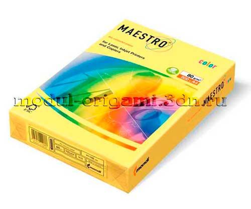 Бумага для модулей оригами Maestro пастель желтый