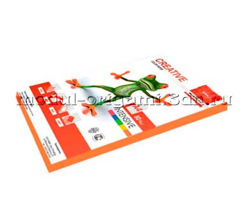 Бумага для модулей оригами Creative color интенсив оранжевый