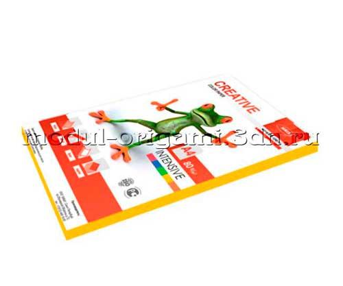Бумага для модулей оригами Creative color интенсив желтый