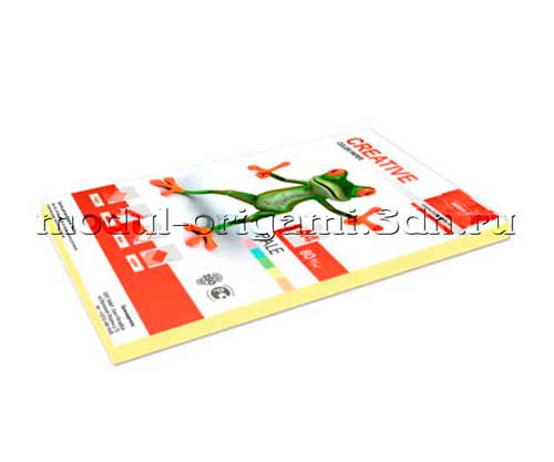 Бумага для модулей оригами Creative color пастель желтый